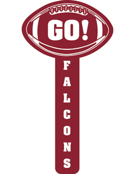 Donoho Falcons Football Cheerstick