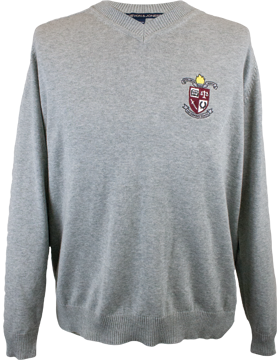 Donoho School Men's V-Neck Sweater D475