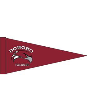 Donoho Falcons Maroon Felt Pennant
