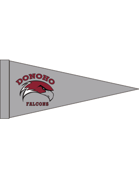 Donoho Falcons Gray Felt Pennant