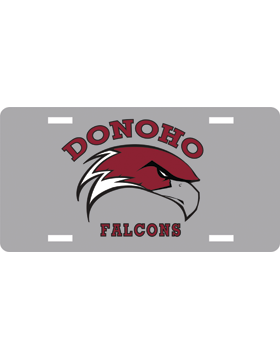Donoho Falcons Gray License Plate