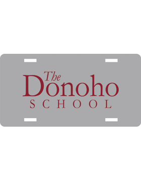 Donoho School License Plate