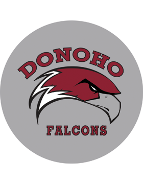 Donoho Falcons Gray Magnet 4.5in