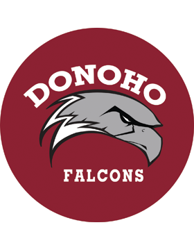 Donoho Falcons Maroon Magnet 4.5in