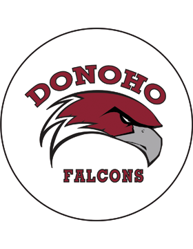 Donoho Falcons White Magnet 4.5in