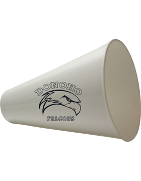 Donoho Falcons White Mini Megaphone