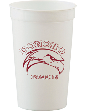 Donoho Falcons White Stadium Cup