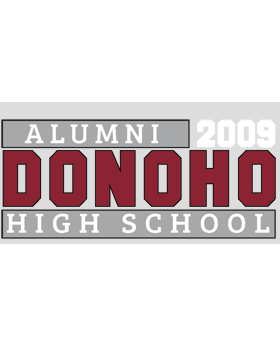 Donoho HS with Year Customizable Alumni Bumper Sticker