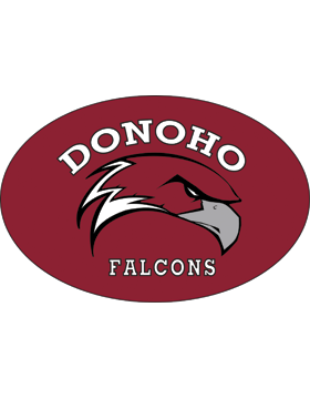 Donoho Falcons Maroon Sticker Oval