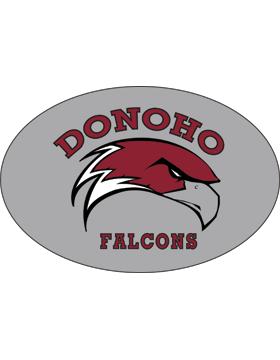 Donoho Falcons Gray Sticker Oval