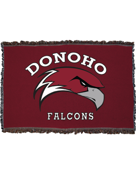 Donoho Falcons Maroon Throw Blanket, Large 38in x 54in