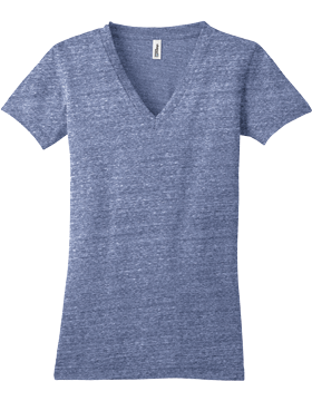 District Juniors Tri-Blend V Neck Tee DT242V-411