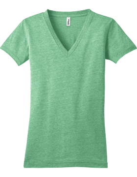 District Juniors Tri-Blend V Neck Tee DT242V-561