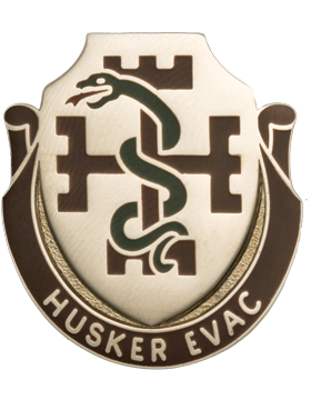 1024 Medical Bn Unit Crest (Husker Evac)