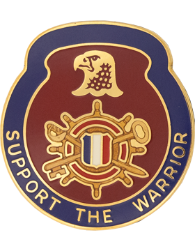 1034 Support Bn Unit Crest (Support The Warrior)