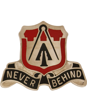 1088 Engineer Bn Unit Crest (Never Behind)