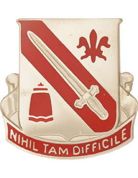 1092 Engineer Bn Unit Crest (Nihil Tam Difficile)