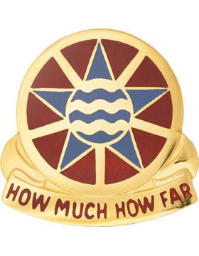 1144th Transportation Battalion Unit Crest (How Much How Far)