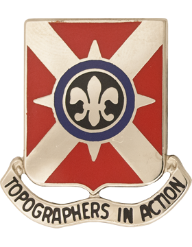 1203rd Engineer Battalion Unit Crest (Topographers In Action)