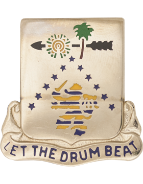 1225th Support Battalion Unit Crest (Let The Drum Beat)