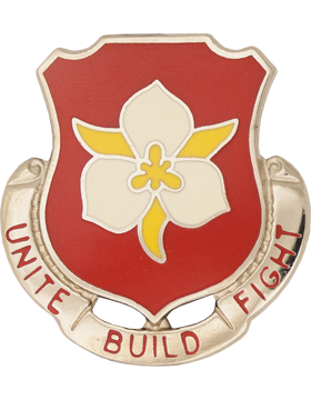 1457 Engineer Bn Unit Crest (Unite Build Fight)