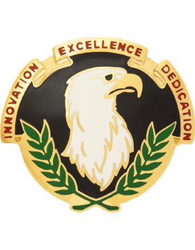 US Army Acquisition Spt Ctr Unit Crest Right (Innovation Excellence Dedication)