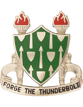 Armor School Unit Crest (Forge The Thunderbolt)