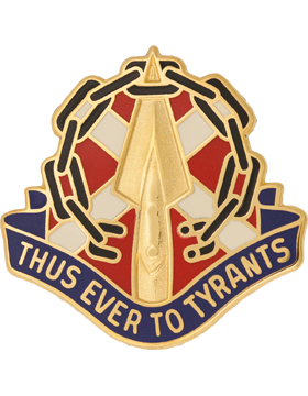 Virginia State Headquarters Army National Guard Unit Crest (Thus Ever To Tyrants
