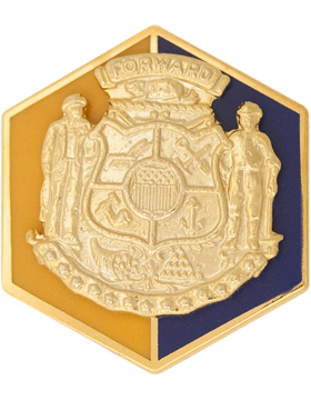 Wisconsin State Headquarters Army National Guard Unit Crest (Forward)