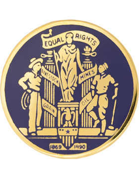Wyoming State Headquarters Army National Guard Unit Crest (Equal Rights)