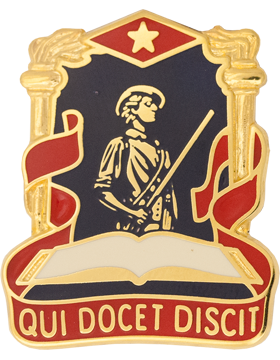 National Guard Pro Education Center Unit Crest (Qui Docet Discit)