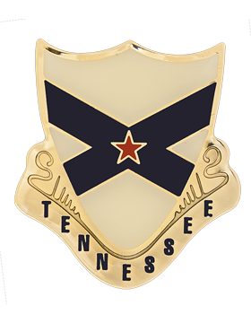 Tennessee State Guard With Red Star Unit Crest (No Motto)