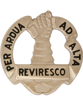 ROTC Basic Camp Gauntlet Unit Crest (Per Ardua Ad Alta Reviresco)