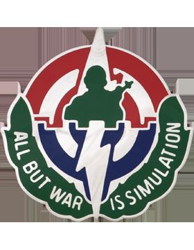 Simylation Training & Instrumentation Cmd Unit Crest (All But War Is Simulation)