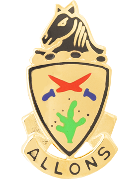11th Armored Cavalry Unit Crest (Allons)