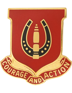 0026 Field Artillery Unit Crest (Courage And Action)