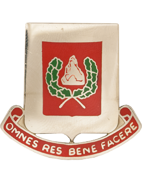 0027 Engineer Bn Unit Crest (Omnes Res Bene Facere)