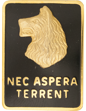 0027 Infantry Division (Right) Unit Crest (Nec Aspera Terrent)