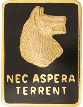 0027 Infantry Division (Left) Unit Crest (Nec Aspera Terrent)