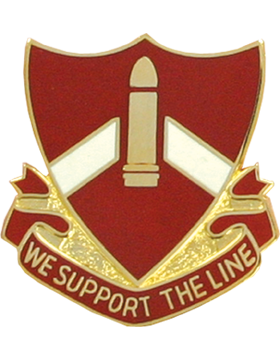 0028 Field Artillery Unit Crest (We Support The Line)