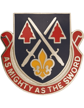 0028 Personnel Services Bn Unit Crest (As Mighty As The Sword)