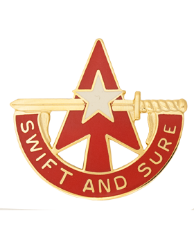 32nd Army Air and Missile Defense Command Unit Crest (Swift And Sure) small