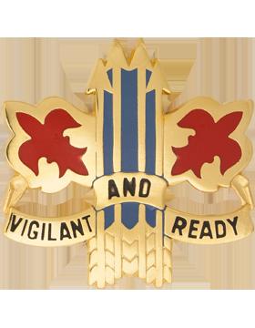 0052 Air Defense Artillery Brigade Unit Crest (Vigilant And Ready)