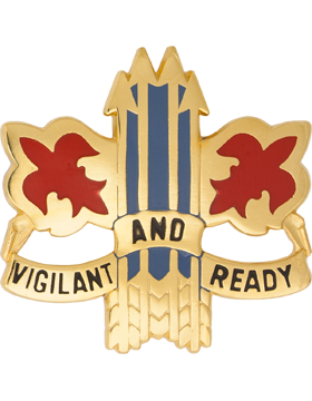 52nd Air Defense Artillery Brigade Unit Crest (Vigilant And Ready)