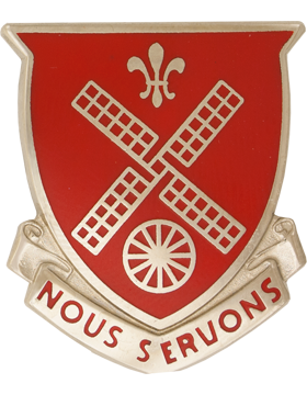 0052 Engineer Battalion Unit Crest (Nous Servons)
