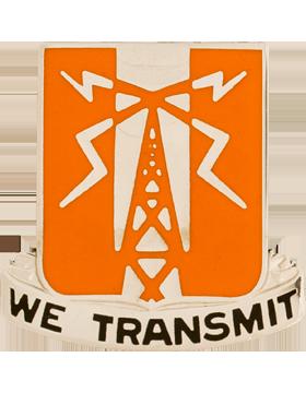 0052 Signal Battalion Unit Crest (We Transmit)