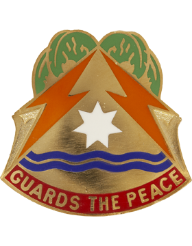 0053 Signal Brigade Unit Crest (Guards the Peace)