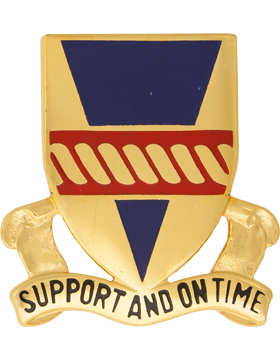 53rd Support Battalion Unit Crest (Support And On Time)