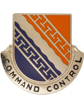 0054 Signal Battalion Unit Crest (Command Control)