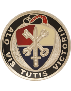 0055 Sustainment Brigade Unit Crest (Alo Vis Tutis Victoria)